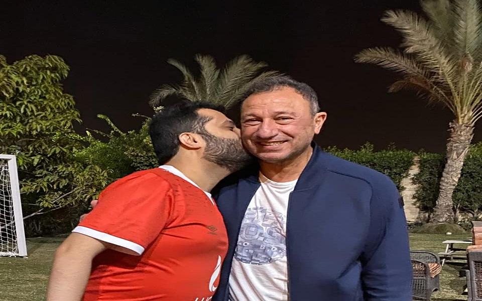 تركي آل الشيخ يزور الخطيب في منزله